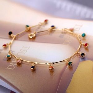 Candy Color Ball Pendant Choker Necklace